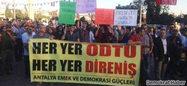 İzmir ve Antalya'dan ODTÜ direnişine selam
