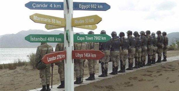 İztuzu Plajı'nda her yol askere çıkıyor