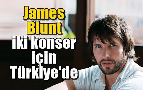 James Blunt iki konser için Türkiye'de