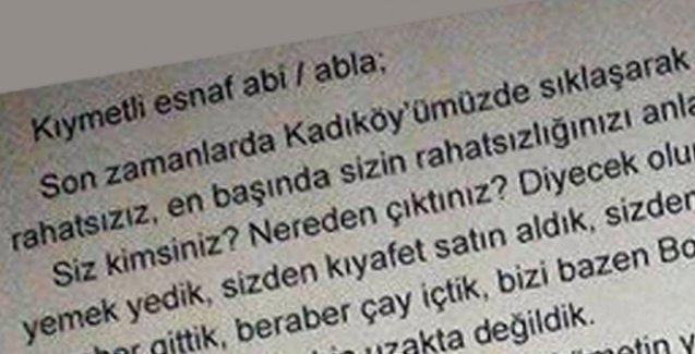 Kadıköy esnafına ırkçı bildiri dağıtıldı