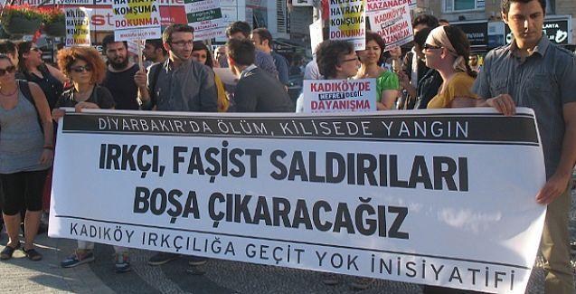 Kadıköy'deki Rum Kilisesi'ne yönelik ırkçı saldırı protesto edildi