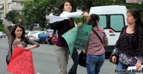 SDP'li kadınlardan balonlu protesto