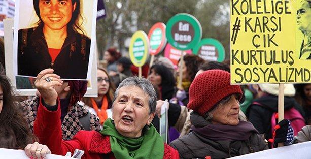 Kadınlar şiddete, yoksulluğa ve savaşa karşı yürüdü