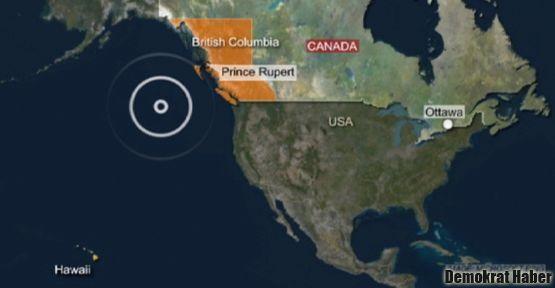 Kanada'da 7,7 şiddetinde deprem