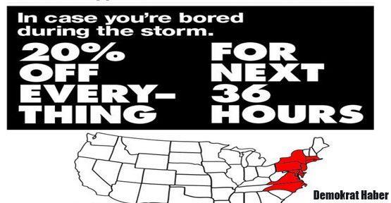 Kapitalizmin ahlakı: 'Sandy Kampanyası'