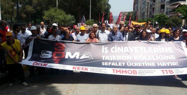 Katliamın yıldönümünde Soma'da binlerce kişi yürüdü