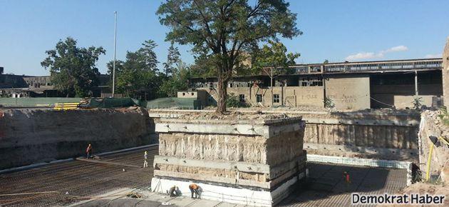 Kayseri'de ağaç için proje değiştirildi