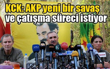 KCK: AKP yeni bir savaş ve çatışma sürecini istiyor