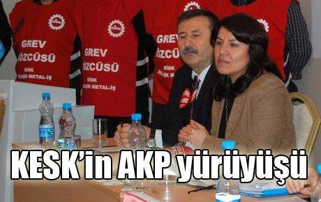 KESK'in AKP yürüyüşü