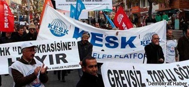 KESK'in yürüyüşüne polis engeli