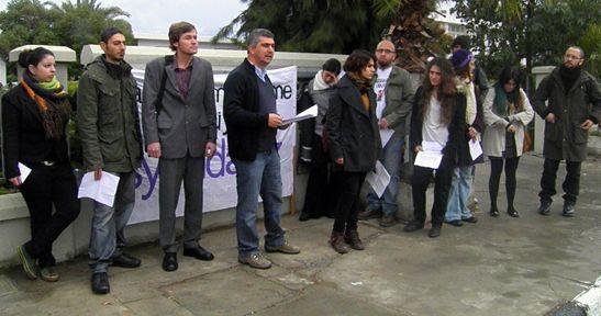 Kıbrıs'ta vicdani retçi Murat Kanatlı yargılandı