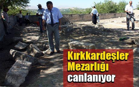 Kırkkardeşler Mezarlığı canlanıyor