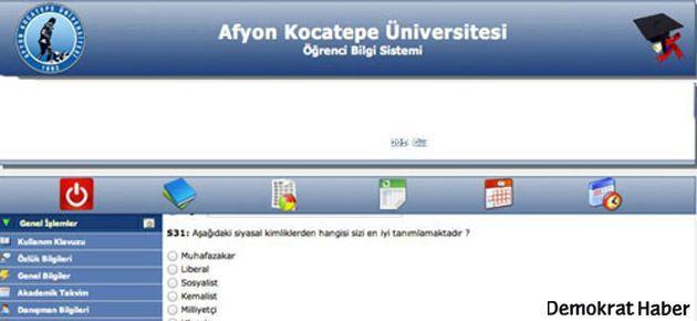 Kocatepe Üniversitesi'nde 'fişleme anketi' iddiası