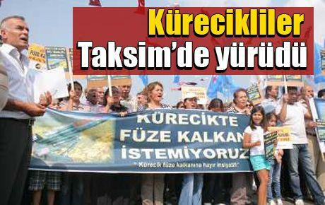Kürecikliler Taksim'de yürüdü