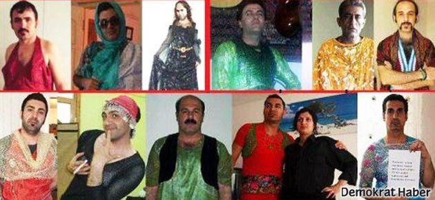 Kürt erkeklerden İran'a 'yerel kadın kıyafetli' protesto