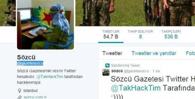Kürt hackerlar Sözcü gazetesinin Twitter hesabını hackledi