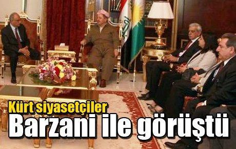 Kürt siyasetçiler Barzani ile görüştü
