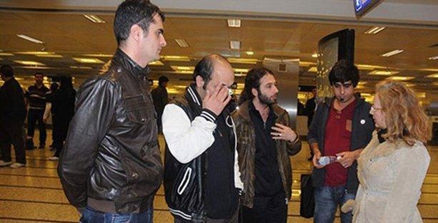 Libya'da alıkonulan 9 kişi Türkiye'ye döndü