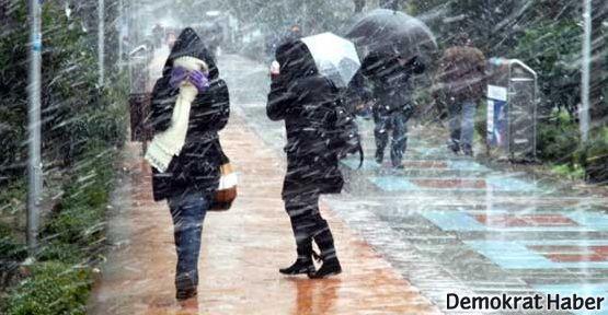 Lodosun ardından yine kar geliyor