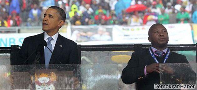Mandela'yı anma töreninde skandal