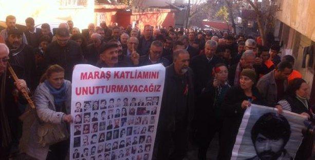 Barikatlar aşıldı, katledilenler Maraş'ta anıldı
