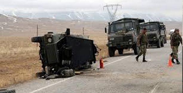 Mardin'de askeri araç devrildi: 9 yaralı