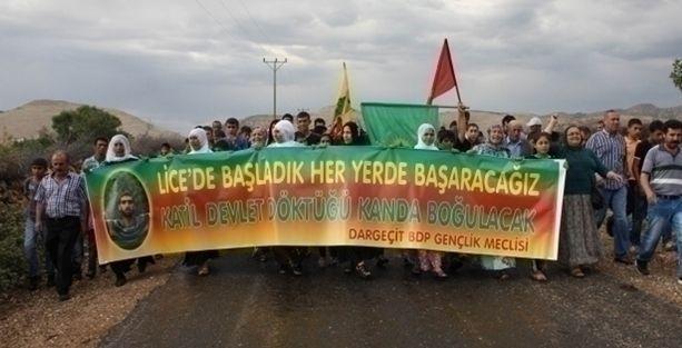 Mardin'deki Lice protestosuna polis saldırısı