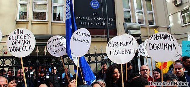 Marmara Üniversitesi'nde asistansız asistan eylemi