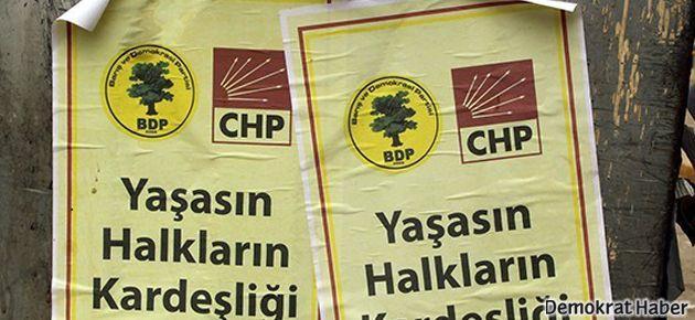 Mersin'de korsan 'BDP-CHP ittifakı' afişleri