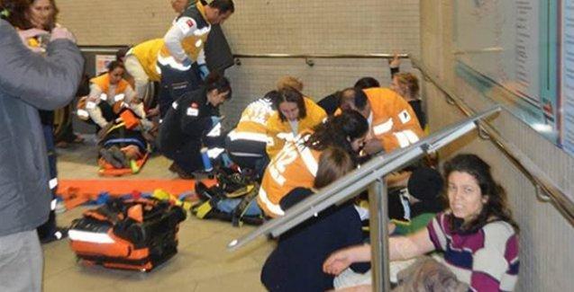 Metroda yürüyen merdiven kazası: 14 yaralı