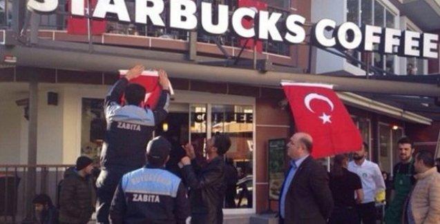 MHP'li belediyeden Starbucks'lara 'Türk bayrağı asın' talimatı!