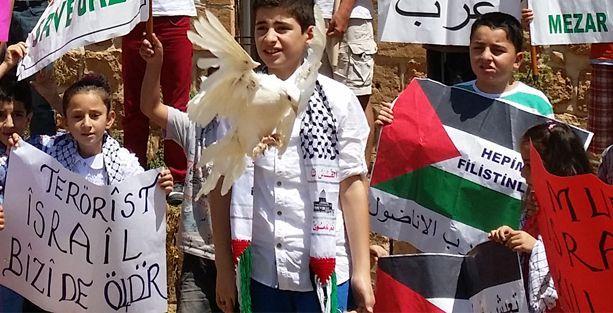 Midyatlı çocuklardan Filistin eylemi