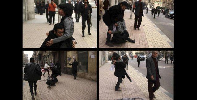 Mısır'da, ayaklanmanın yıldönümünde polis bir kadın eylemciyi katletti