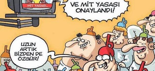 MİT yasası Gırgır'ın kapağında
