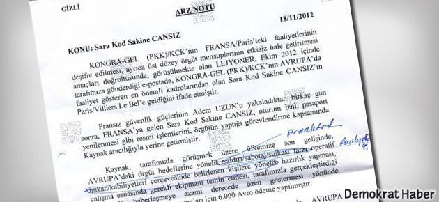 MİT'TEN ÖMER GÜNEY'E SUİKAST PARASININ BELGESİ ÇIKTI!