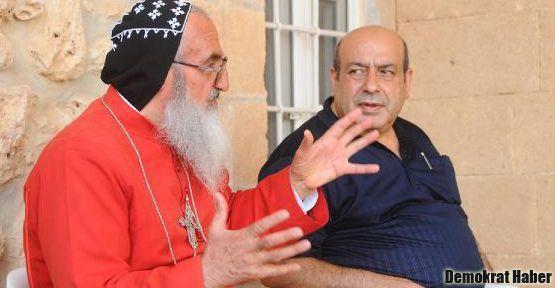 Mor Gabriel Manastırı'nın ziyaretçileri vardı