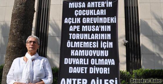 Musa Anter'in kızı İzmir'de açlık grevinde