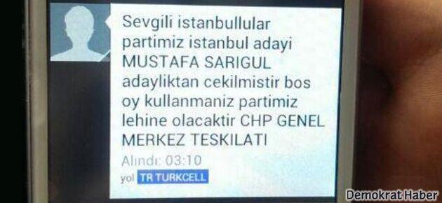 'Mustafa Sarıgül çekildi' mesajı attılar
