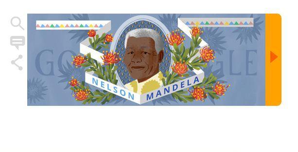Nelson Mandela Doodle oldu