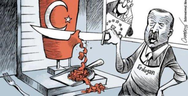 New York Times Erdoğan'ı 'demokrasi kesen dönerci' yaptı