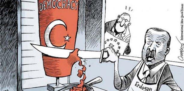 New York Times'ın 'Erdoğan' karikatürünü taşıdığı için polis işlem başlattı