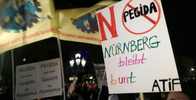 Nürnberg'de Neonazi yürüyüşü antifaşist göstericiler tarafından engellendi