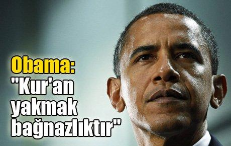 """Obama: """"Kur'an yakmak bağnazlıktır."""""""