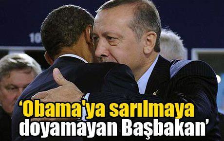 'Obama'ya sarılmaya doyamayan Başbakan'
