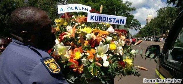 Öcalan'dan Mandela'ya 'Kürdistan' yazılı çiçek