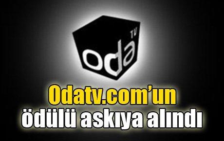 Odatv.com'un ödülü askıya alındı