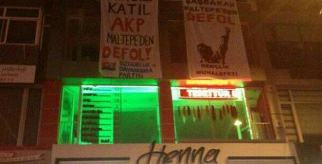 ÖDP ilçe binasına 'Hırsız, katil AKP' baskını: Pankart bulamayan polis, gözaltı yaptı!