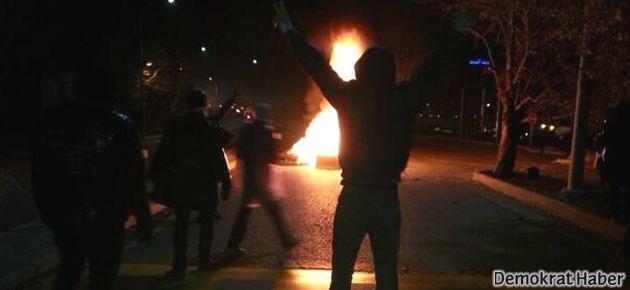 ODTÜ'de duvar protestosuna müdahale