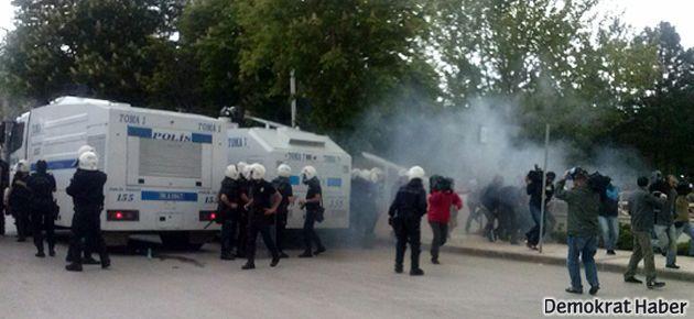Ankara'da Reyhanlı için ayağa kalkan öğrencilere müdahale