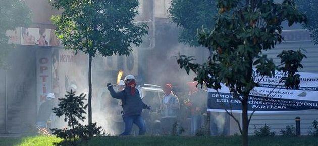 Okmeydanı'nda da polis müdahalesi: 1 yaralı
